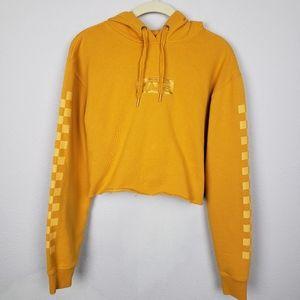 Vans checkerboard cropped hoodie XS